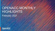 OpenACC Monthly Highlights: February 2021