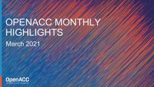 OpenACC Monthly Highlights: March 2021